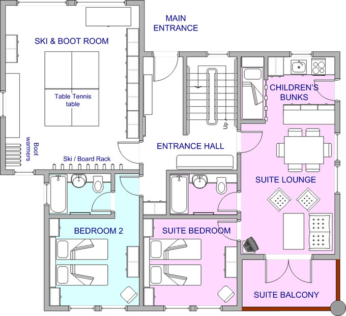 Floorplan - upper bedroom